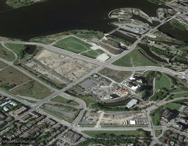 Aerial View of LeBreton Flats in 2013