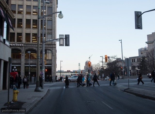 Intersection Rideau Sussex in 2013
