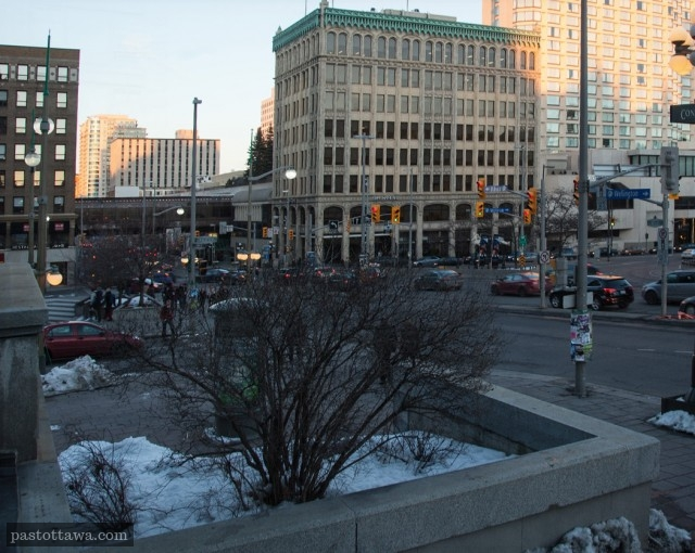rideau Street in Ottawa in 2013 without the Corry Block