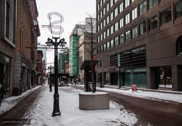 Rue Sparks à Ottawa en 2013