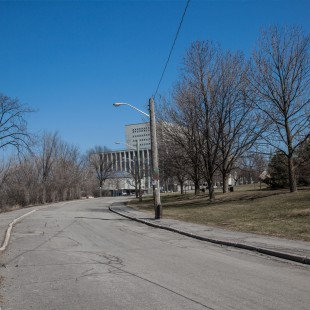 Former Wellington street in Ottawa near Pooley's bridge