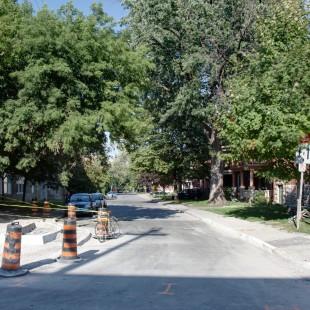 rue Lisgar tout près de la rue Bronson pointant vers l'est en 2013 à Ottawa