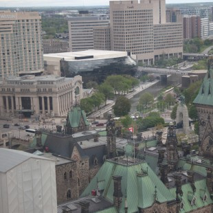View from the Peace Tower of the Rideau Canal.