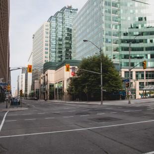 rue Albert à la hauteur de la rue Metcalfe à Ottawa en 2013