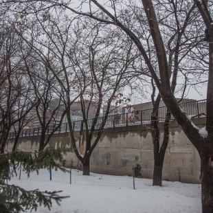 Parc de la conféderation et le mur de béton