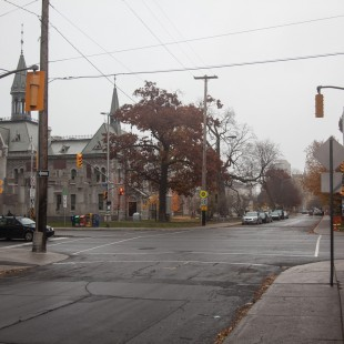 Lisgar and Elgin street intersection in Ottawa in 2012