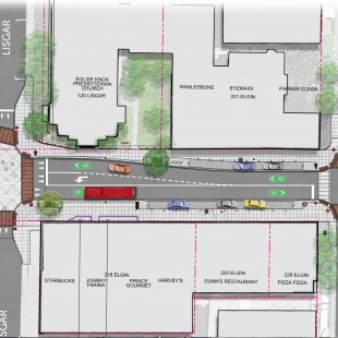 Design plan of Elgin Street.