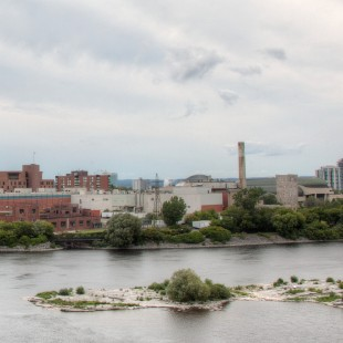 Ottawa river and downtown hull in 2013