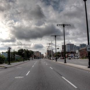 No more kids, only asphalt on King-Edward Avenue in 2013.