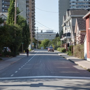 rue Percy à Ottawa direction nord en 2013