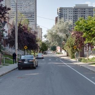 rue Bay direction nord près de Lisgar à Ottawa en 2013
