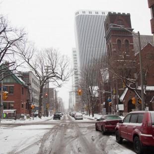 rue Gloucester à la hauteur de la rue Metcalfe à Ottawa en 1938