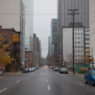 O'Connor Street looking North in Ottawa in 2012