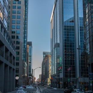 O'Connor Street Looking South with Queen Street in Ottawa in 2013