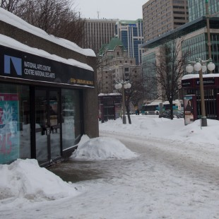 Snowed up Elgin Street in Ottawa in 2015