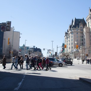 Rideau Street in 2013 without the Daly Building and the Corry Block