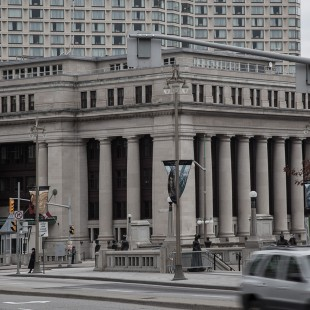 Building of the former Union Station in Ottawa in 2012