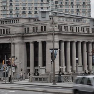Édifice de l'ancienne gare Union à Ottawa en 2012