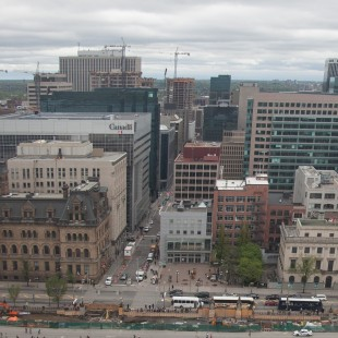 View of Wellington Street from The Peace Tower